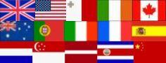 Übesicht Flaggen Länder Jugendkurse